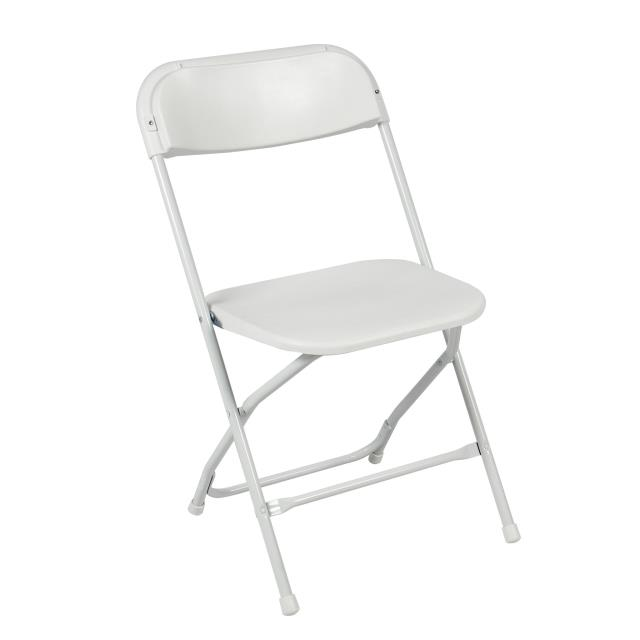 Where to find Solid White Folding Chair in Bemidji