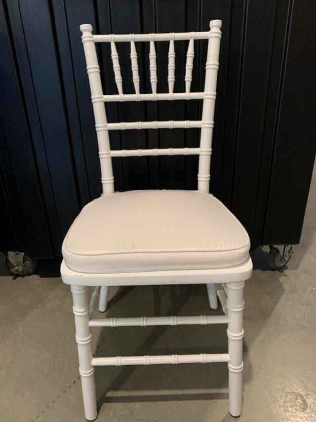 Where to find White Chiavari Chair with Cushion in Bemidji