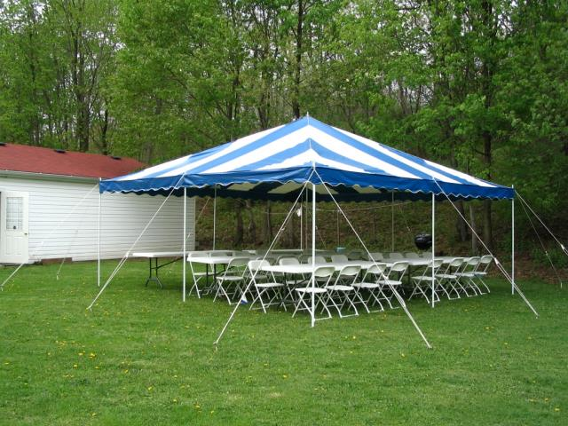 Where to find 20  x 20  Blue   White Tent in Bemidji