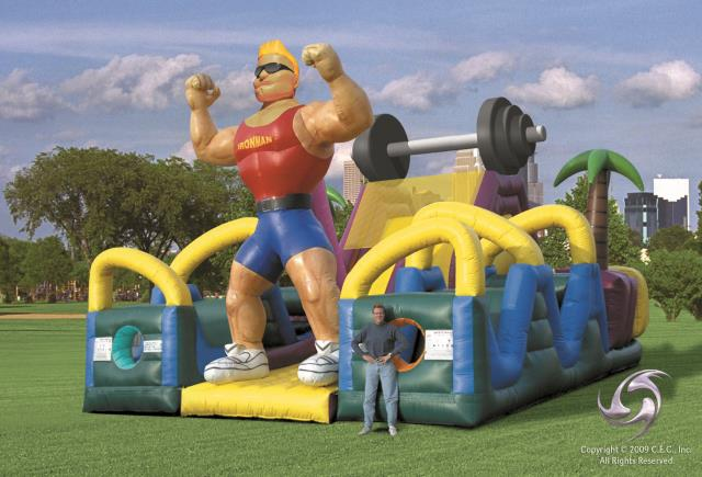 Iron Man Obstacle Course Inflatable Rentals Bemidji Mn