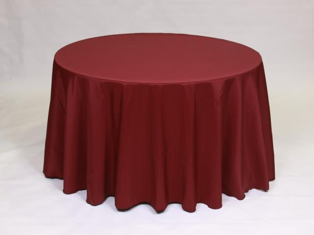 Where to find Burgundy 90  Round Linens in Bemidji
