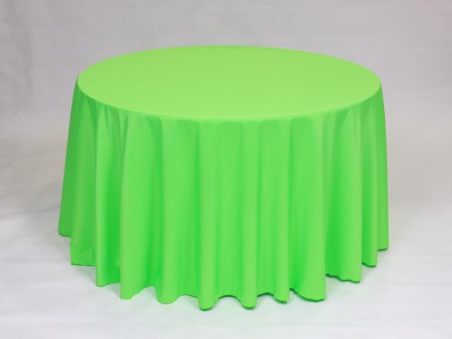 Where to find Neon Green 90  Round Linens in Bemidji