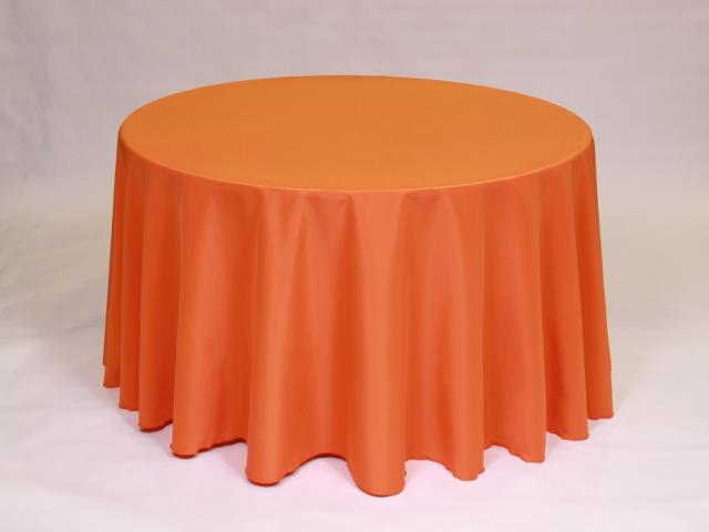 Where to find Orange 90  Round Linens in Bemidji