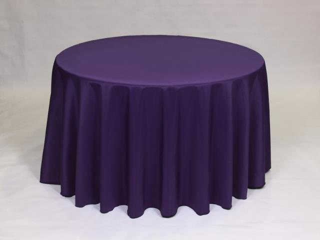 Where to find Purple 90  Round Linens in Bemidji