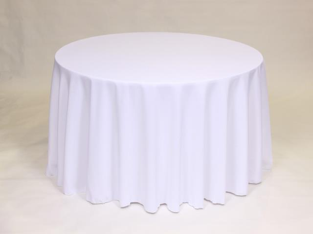 White 90 Inch Round Linens Rentals Bemidji Mn Where To